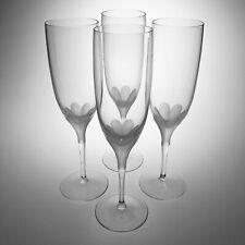 4 Cristal De Sevres Primavera Crystal Champagne Flutes Glass 8 1/4