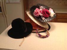 Lot of 8 Vintage Ladies Hats Various Sizes /Shapes/Colors