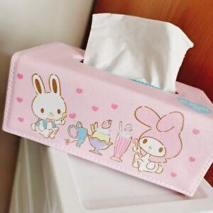 Super Cute My Melody PU Bathroom Home Office School Tissue Kleenex Cover Holder
