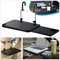 Car Back Seat Tray Laptop Desk Fold Shelf Support Steer Wheel Drawer Cup Holder