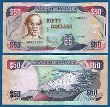JAMAIKA / JAMAICA  50 Dollars 15.1.2008  UNC P.83 c