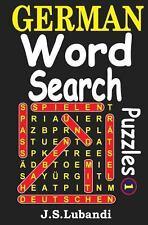 German Word Search Puzzles by J. Lubandi (2014, Paperback)