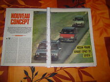 YOUNGTIMERS...NISSAN PRAIRIE vs RENAULT SPACE TSE vs TOYOTA F..06/1984..12 PAGES