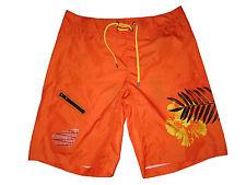 RLX Ralph Lauren Polo Orange Palm Surf Swim Board Shorts Suit XL