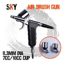 0.3mm Single Action Gravity Spray Airbrush Air Brush Gun Nail Art Make Up Tattoo