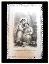 """LATE 1800's FRENCH """"THE DANGER OF THE LOST SOUL"""" LACE HOLY CARD ! VISIT MY STORE"""