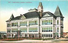Eureka ~Outfoor Basketball Court @ High School~4-Side Clock Tower~1910 Postcard