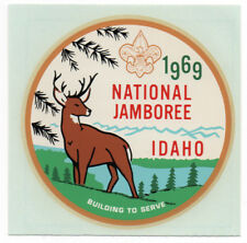 1969 Souvenir Luggage/Travel Decal BOY SCOUTS National JAMBOREE IDAHO VG+/Ex