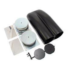 Shotgun Double Barrel Black Coated Aluminum Intake Hood Scoop Smooth Dual Carb