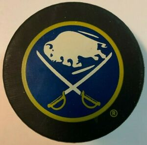 1990's Buffalo Sabres Inglasco Official Game Puck NHL