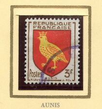 STAMP / TIMBRE FRANCE OBLITERE N° 1004 BLASON AUNIS