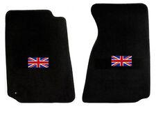 NEW! 1965-1967 Sunbeam Tiger, Alpine Black Floor Mats with Flag Logo Pair Set