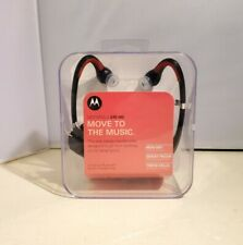 Motorola S10-HD Sound Wireless Bluetooth Stereo Music Headphones, Black / Red