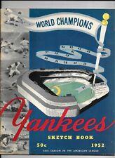 1952 New York Yankees Sketch Book - Mickey Mantle