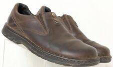 Merrell World Legend Dark Earth Brown Leather Slip-On Active Loafer Men's US 9.5