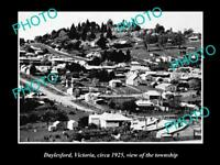 OLD 8x6 HISTORICAL PHOTO OF DAYLESFORD VICTORIA VIEW OF THE TOWNSHIP c1925