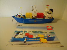 (Go) Lego 4030 Cargo Ship with Ba 100% Complete Used Figurines