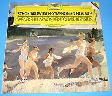 HEAR STEREO LP DGG 419771 SHOSTAKOVICH SYMPHONIES 6 & 9 BERNSTEIN VIENNA PHIL