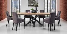 Dining Table Senso oak Solid 240 x 100 cm Table Dining Room Table Wild Oak