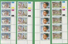 16 Blocks of 5 Stamps 1993 Namibia 738-741 Cat Value $44 SOS Child Care Village