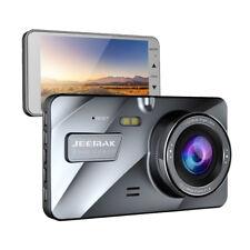 """JEEMAK 4"""" FHD Dual Lens DashCam Cámara de Coche DVR G-Sensor visión nocturna ES"""