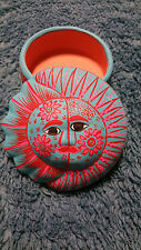 Hand Painted Trinket Box from Mexico, Beautiful, Bright, Unique - No 2 are alike