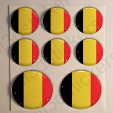 Pegatinas Belgica Pegatina Bandera Belgica Redondas 3D Vinilo Adhesivo Relieve