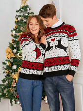 Christmas Sweater Xmas Double Two Person Elk Pullover Jumper Warm Tops Outwear