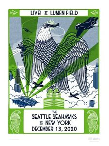 **SOLD OUT ** LE  2020 Seattle Seahawks GameDay Poster vs New York Jets