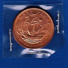United Kingdom coin Elizabeth II - HALF PENNY 1964, 1/2 PENNY 1964, Bronze !