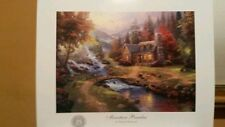 UNFRAMED THOMAS KINKADE ORIGINAL 25TH ANNIVERSARY PRINT MOUNTAIN PARADISE  11X14