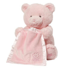 My First Teddy Peek-a-Boo 25cm Animated Soft Plush Toy Pink