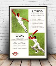 Lords Cricket : Vintage Travel  Poster reproduction