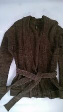 Womens' COLORADO Brown Green Waist Tie Thick Knit Cardigan