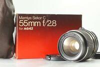{EXC+4 Box} MAMIYA Sekor C 55mm f/2.8 Lens for 645 1000s Super Pro TL JAPAN 640