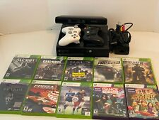 Microsoft Xbox 360 E Console 500GB Kinect Bundle 10 Games 2 Controllers