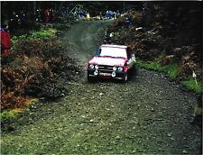 ROGER CLARKE TONY MASON FORD ESCORT RS1800 #6 LOMBARD RAC RALLY 1975 PHOTOGRAPH