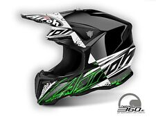 Casco da Motocross Airoh Twist - Nuovo - Colore Spot Black Gloss - Taglia M