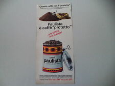 advertising Pubblicità 1966 CAFFE' CAFE' PAULISTA