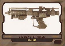 "Star Wars Galactic Files 2 - #597 Red Parallel Card ""E-5 Blaster Rifle"" #08/35"
