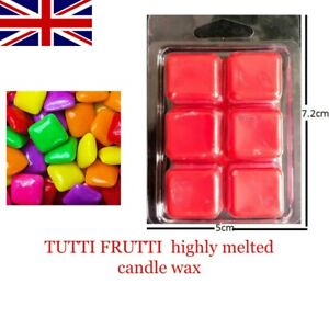 TUTTI FRUTTI Scented Highly Wax Melts Bar- Wax  Bar 60g Highly Scented