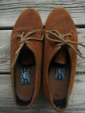Vtg. Roots '80's/'90& #039;s brown suede Oxford style lace up shoes Made In Canada