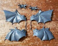 Warhammer 40k Dark Eldar Drukhari Bits: Scourge Leathery Bat Wings x2 Set