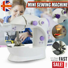 Electric Sewing Machine Mini Stitches Adjustable 2-Speed Foot Pedal LED Home DIY