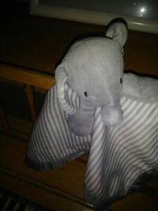Circo Gray White Stripe Elephant Baby Security Blanket Lovey Satin Back Target