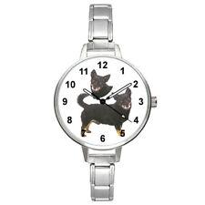 Lancashire Heeler Dog Unisex Round Italian Charm Stretch Bracelet Watch Bm411