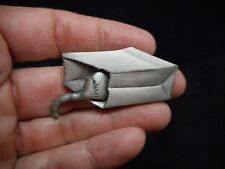"Authentic Vintage-""JJ"" Pewter Cat IN A PAPER BAG Brooch/Pin"