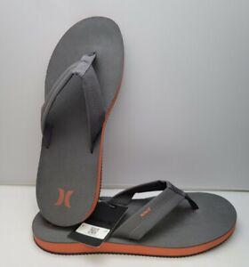 Hurley Sandals Mens Gray Authentic Nike Lunar Lunarlon Cushioned Size 13