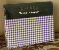 NEW Ralph Lauren PURPLE White GINGHAM Check 4pc FULL SHEET SET ~ Rare!