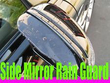 MAZDA02B Side Mirror RAIN/SNOW guard vent shade visor - Tint BLACK